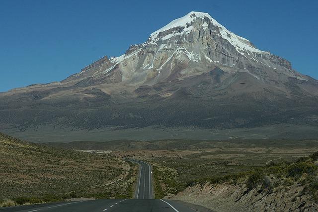 sopka v Bolivii