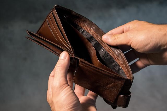 peněženka chudáka