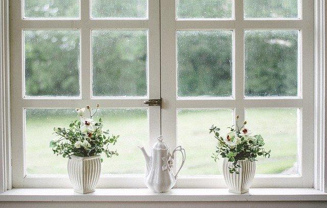 Okno, dekorace